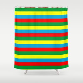 Ethiopia flag stripes Shower Curtain