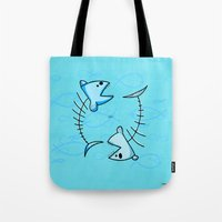 pisces Tote Bags featuring Pisces by Giuseppe Lentini
