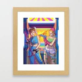 Chun Li vs. Cammy Framed Art Print