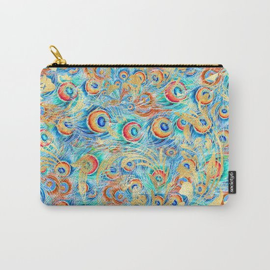 Feather peacock #11 Carry-All Pouch