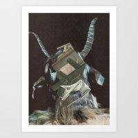 baphomet Art Prints featuring Baphomet by Nicholas Lockyer