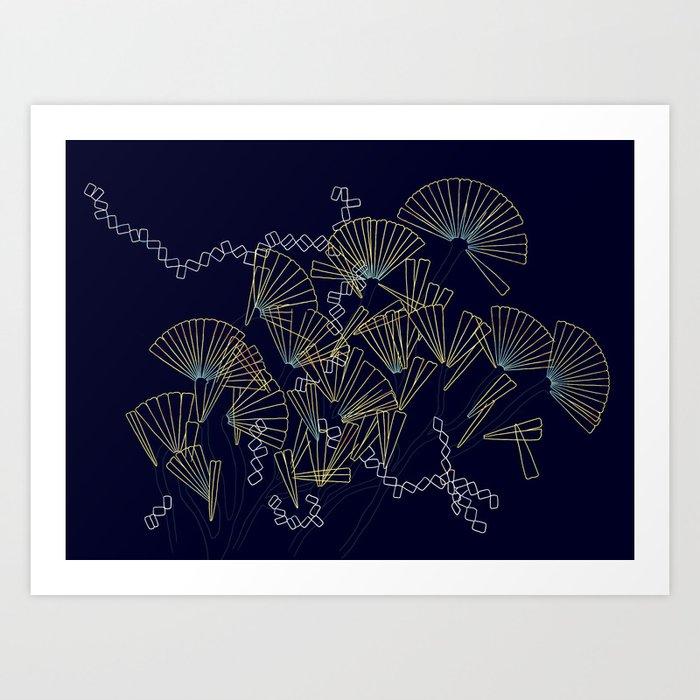 Licmophora - naive diatoms Art Print