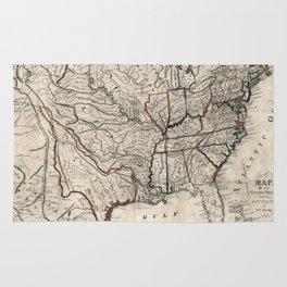 United States - Map including Louisiana - 1818 Rug