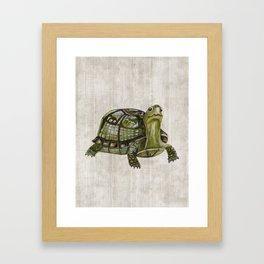 Little Turtle, Forest Animals, Woodland Decor, Woodland Art, Framed Art Print