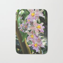 Pink and Yellow Orchids Bath Mat