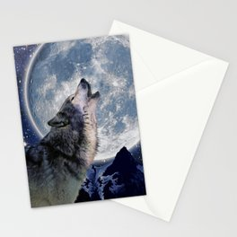 A One Wolf Moon Stationery Cards