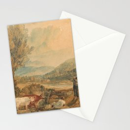 william turner Lulworth Castle  Dorset  1820 Stationery Cards