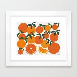 Orange Harvest - Landscape Framed Art Print
