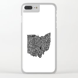 Typographic Ohio Clear iPhone Case