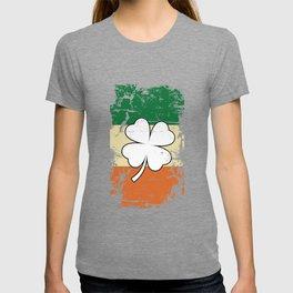 Distressed Irish Flag St Patrick Shamrock T-shirt
