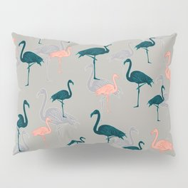 Tropical Gathering Flamingo Design Pillow Sham