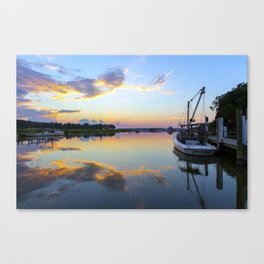 Sunset on Jones Creek II Canvas Print