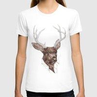 smoking T-shirts featuring Smoking Buck by Animal Crew