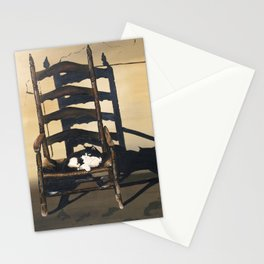 Cat In Wicker Chair Stationery Cards