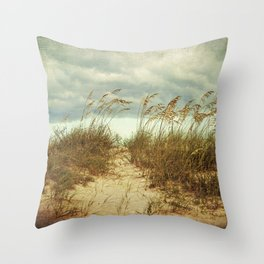Beach Path Throw Pillow
