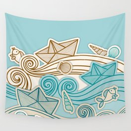 Beach fish sea Wall Tapestry
