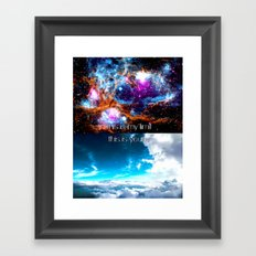 This is my limit this is yours Framed Art Print