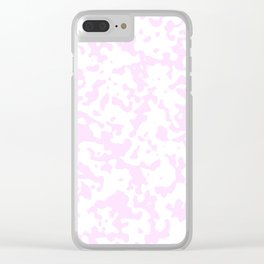 Spots - White and Pastel Violet Clear iPhone Case