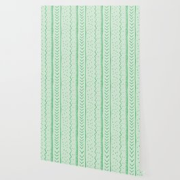 Moroccan Stripe in Green Wallpaper