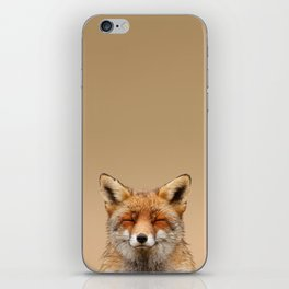 Zen Fox (Red Fox smiling) iPhone Skin