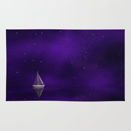 Purple Ship Rug