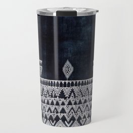 Arteresting V48 - Indigo Anthropologie Bohemien Traditional Moroccan Design Travel Mug