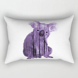 Misty Forest Koala Bear - purple Rectangular Pillow