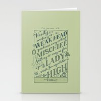 jane austen Stationery Cards featuring Jane Austen Covers: Emma by Leah Doguet