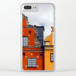 Stockholm. Colorful Houses in Gamla Stan Clear iPhone Case