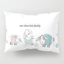 Pastel digitally knitted lambs Pillow Sham