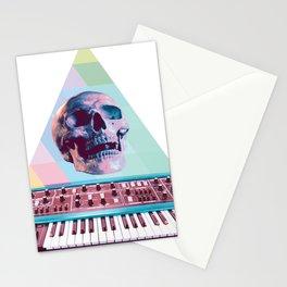 Electro Skull Synthesizer Stationery Cards