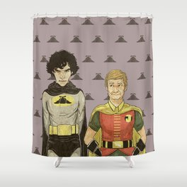 The Adventures of Hat-man and John the Boy Wonder Shower Curtain