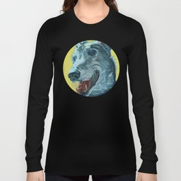 Dilly the Greyhound Portrait Long Sleeve T-shirt