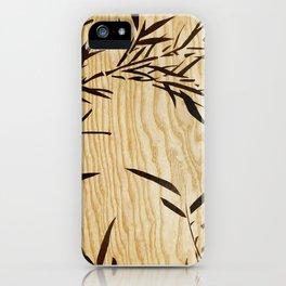 Japanese bamboo buddha wood art iPhone Case