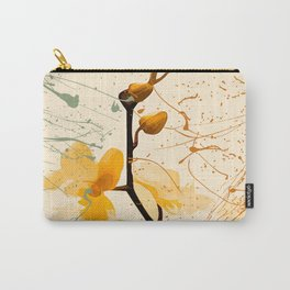 Yellow Orchid Carry-All Pouch