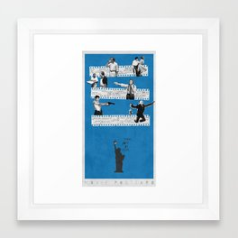 New York on Film Framed Art Print