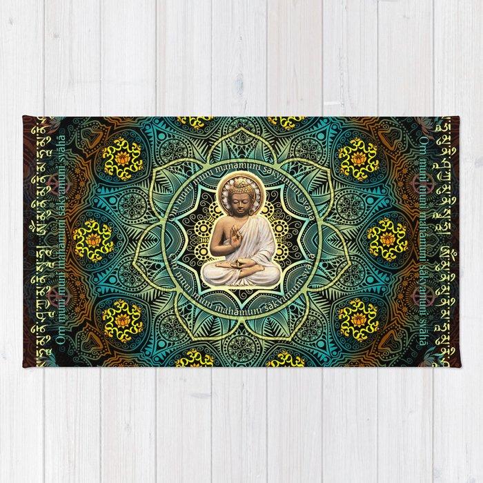 Shakyamuni Buddha - Enlightenment, Peace and Happiness Rug