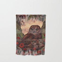Tawny Owlets Wall Hanging