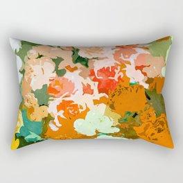 Velvet Floral Rectangular Pillow