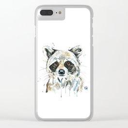 Peekaboo Raccoon Clear iPhone Case