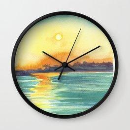 Cresent Bay Sunset Wall Clock