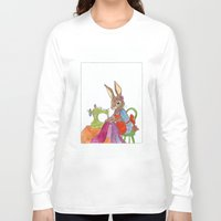 sewing Long Sleeve T-shirts featuring sewing rabbit by emmeke