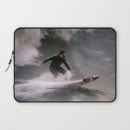Surfer riding a wave Laptop Sleeve