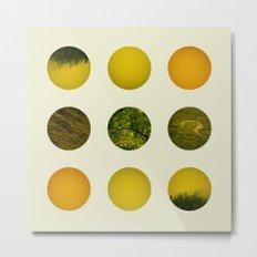Earth Dot Pattern Metal Print