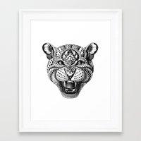 leopard Framed Art Prints featuring Leopard by BIOWORKZ