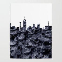 Lansing Skyline Michigan Poster