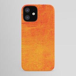 Orange Sunset Textured Acrylic Painting iPhone Case
