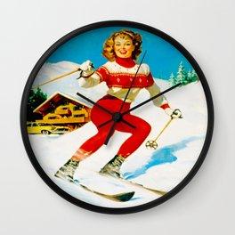 PIN UP GIRL by Gil Elvgren Wall Clock