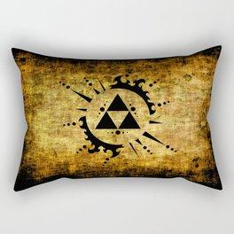 Legend Of Zelda Triforce Grunge Rectangular Pillow