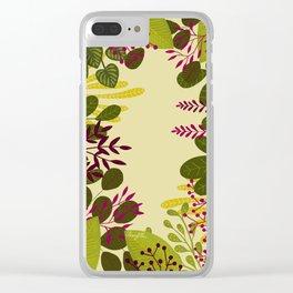 Belle plante Clear iPhone Case